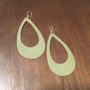 Leather Hoop Earrings
